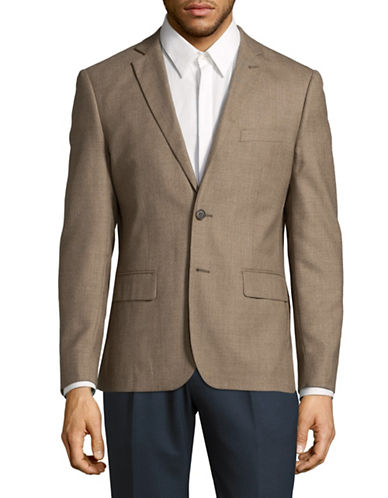 Haight And Ashbury Wool Blazer-BROWN-40 Regular