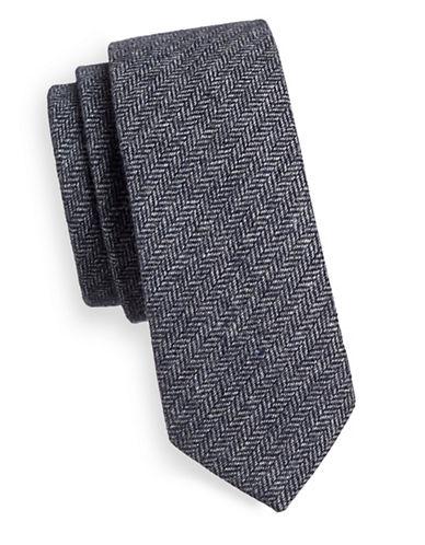 Haight And Ashbury Herringbone Tie-BROWN-One Size