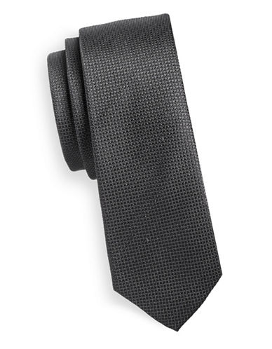 Haight And Ashbury Textured Dots Silk Tie-GREY-One Size