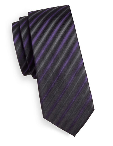 Haight And Ashbury Textured Stripe Tie-PURPLE-One Size