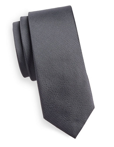 Haight And Ashbury Dot Silk Tie-GREY-One Size