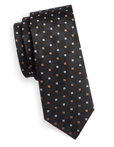 Haight And Ashbury Silk Tie-BLACK-One Size