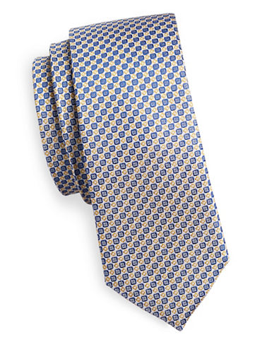 Haight And Ashbury Patterned Silk Tie-WHITE-One Size