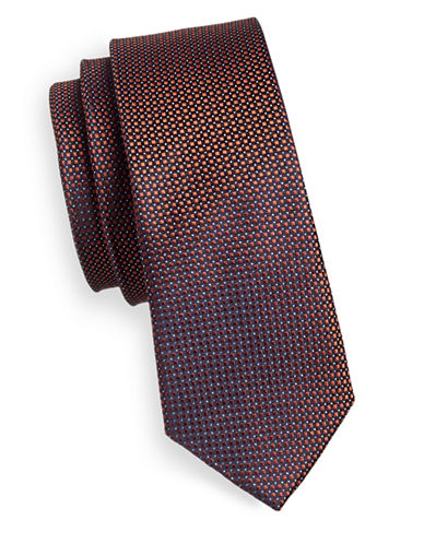 Haight And Ashbury Textured Silk Tie-COPPER-One Size