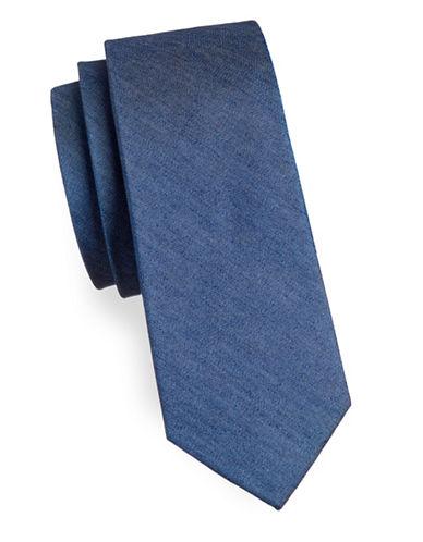 Haight And Ashbury Basic Denim Slim Tie-BLUE-One Size