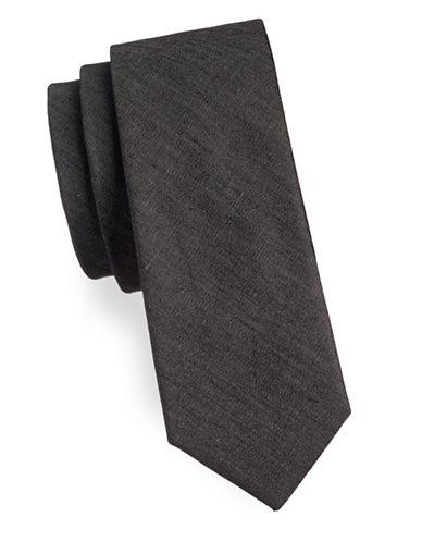 Haight And Ashbury Basic Denim Slim Tie-BLACK-One Size