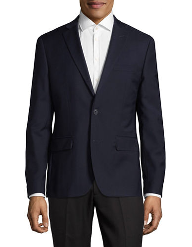 Haight And Ashbury Wool Sports Jacket-BLUE-44 Regular