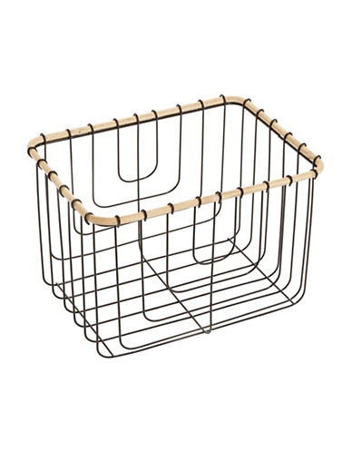Distinctly Home Small Wire Baskets-BLACK-One Size