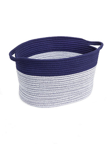 Distinctly Home Large Cotton Rope Basket-INDIGO-One Size