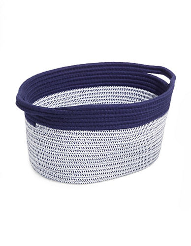 Distinctly Home Small Cotton Rope Basket-INDIGO-One Size