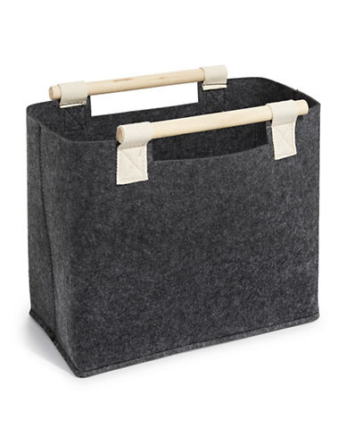 Distinctly Home Felt Basket-CHARCOAL-One Size