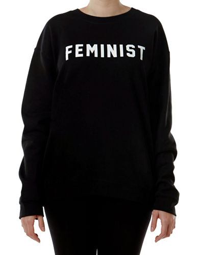 Adolescent Clothing Feminist Crew Sweater-BLACK-Small