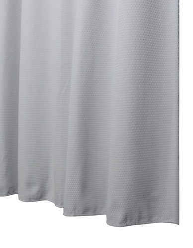 Glucksteinhome Matelassé Shower Curtain-GREY-One Size