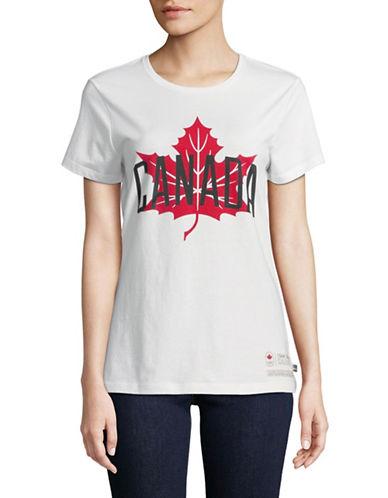 Canadian Olympic Team Collection Cotton Maple Leaf Canada Tee-WHITE-Medium 89594212_WHITE_Medium