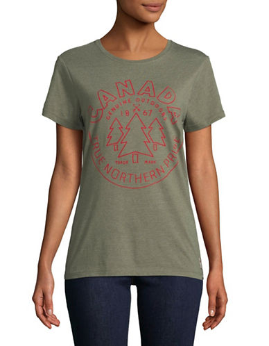 Canadian Olympic Team Collection True North Pride Cotton-Blend Tee-GREEN-X-Small 89594231_GREEN_X-Small