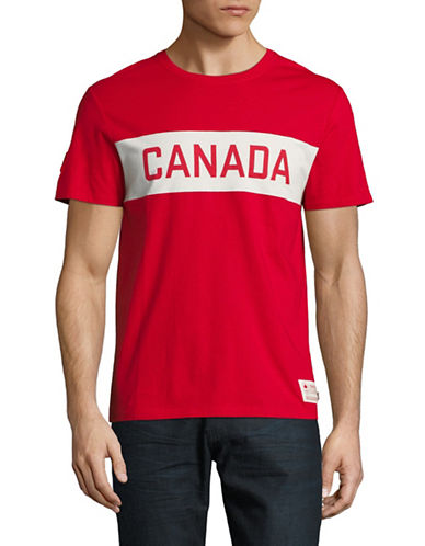 Canadian Olympic Team Collection Canada Colourblock T-Shirt-RED-Medium 89600365_RED_Medium