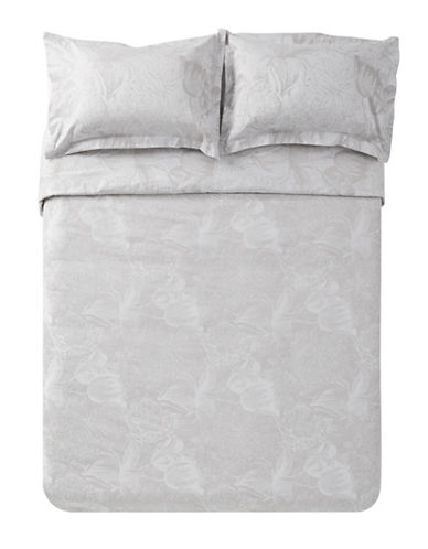 Distinctly Home Boutique Three-Piece Sophia Duvet Cover Set-GREY-King