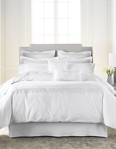 Glucksteinhome Three-Piece Rhodes 400 Thread Count Duvet Cover Set-WHITE-King
