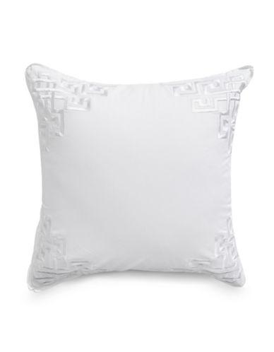 Glucksteinhome Rhodes Cotton Cushion-WHITE-One Size