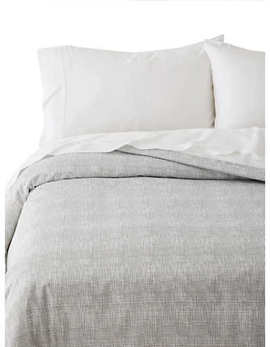 Distinctly Home Alden 400-Thread Count Cotton Duvet Cover-GREY-Queen