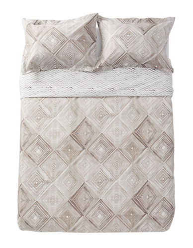 Distinctly Home Quill Duvet Cover Set-TAUPE-King