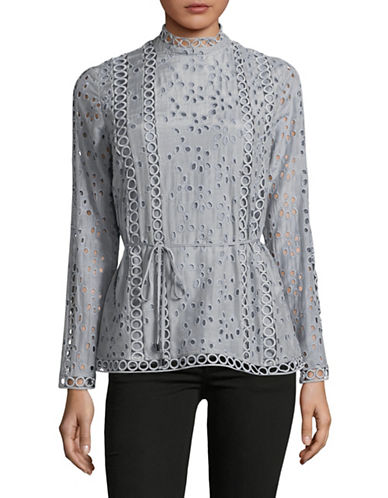 Ministry Of Style Eyelet Lace Blouse-GREY-4
