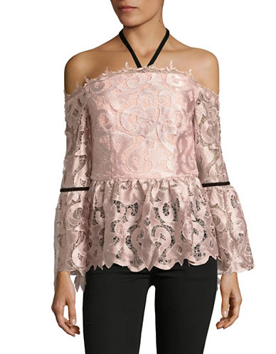 Ministry Of Style Dahliah Halter Neck Top-PINK-8