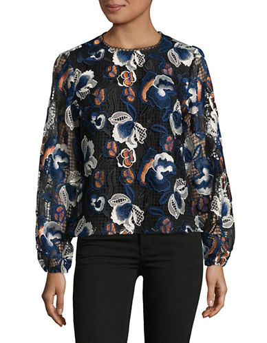 Ministry Of Style Aurora Floral Lace Blouse-BLUE-2