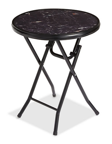Distinctly Home Bistro Glass Folding Table-BLACK-One Size