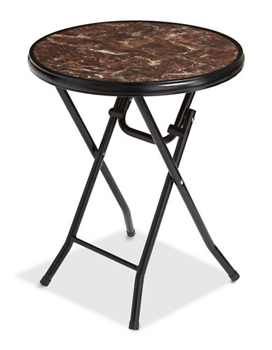 Distinctly Home Bistro Glass Folding Table-BROWN-One Size