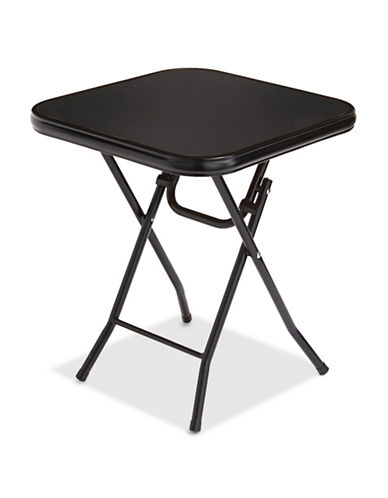 Distinctly Home Glass Folding Table-BLACK-One Size 89615143_BLACK_One Size