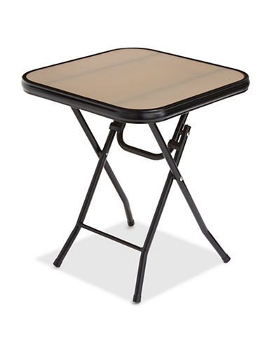 Distinctly Home Glass Folding Table-TAUPE-One Size