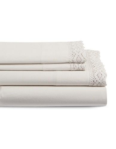 Distinctly Home Boutique Bella Four Piece Duvet Sheet Set-BEIGE-King