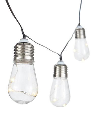 Glucksteinhome Edison Bulb Battery Operated String Lights-BLACK-One Size