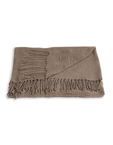 Distinctly Home Ripple Origami Pleat Throw-CINDER-One Size
