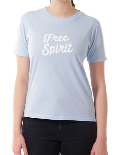 Adolescent Clothing Free Spirit Cotton Tee-BLUE-Medium