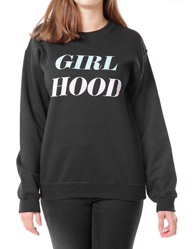 Adolescent Clothing Girl Hood Sweater-BLACK-Small