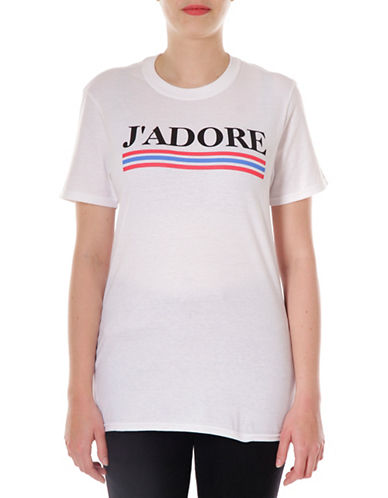 Adolescent Clothing J Adore Cotton Tee-WHITE-Medium