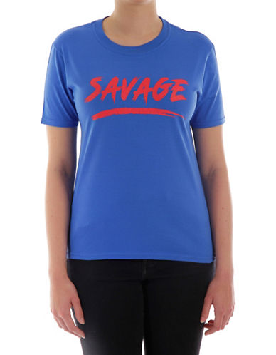 Adolescent Clothing Savage Cotton Tee-BLUE-X-Small
