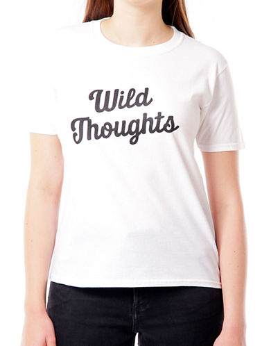 Adolescent Clothing Wild Thoughts Cotton Tee-WHITE-Large