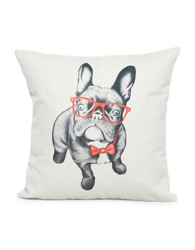 Nema Home French Bulldog Throw Pillow-RED-18x18