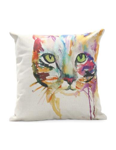 Nema Home Lexy Cat Throw Pillow-MULTI-18x18