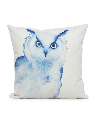 Nema Home Owl Throw Pillow-BLUE-18x18