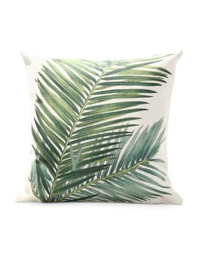 Nema Home Tropic Leaf Print Throw Pillow-GREEN-18x18