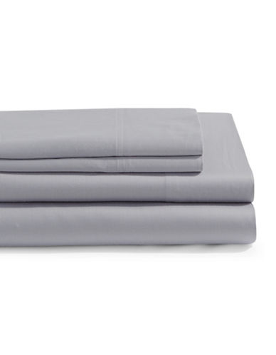 Distinctly Home 4-Piece 300 Thread Count Sheet Set-GREY-Queen