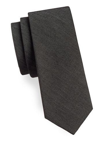 Haight And Ashbury Basic Denim Slim Tie-GREY-One Size