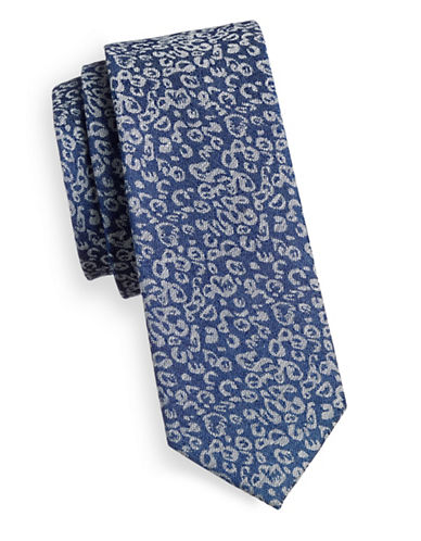 Haight And Ashbury Abstract Cotton Tie-BLUE-One Size
