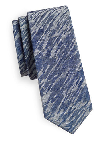 Haight And Ashbury Camo Cotton Tie-BLUE/WHITE-One Size