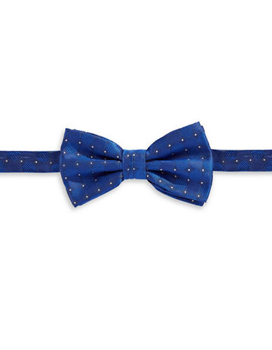 Haight And Ashbury Geometric Circle Silk Bow Tie-BLUE-One Size