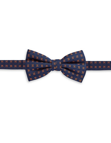 Haight And Ashbury Geo-Print Cotton Bow Tie-NAVY-One Size